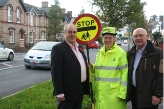 Devon Lib Dem Councillors with Lollipop Lady