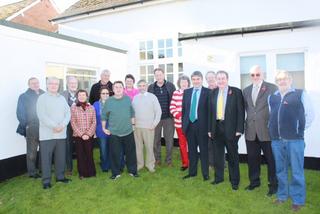 Adrian Sanders MP with Central Devon Lib Dem members