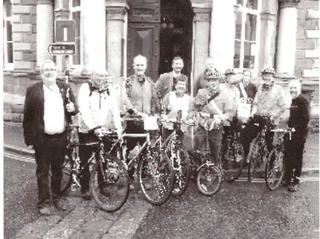 Nick Way with cyclists