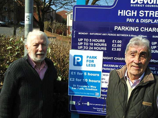 Bob Wright and Frank lEtch in ST SAviours CAr Park